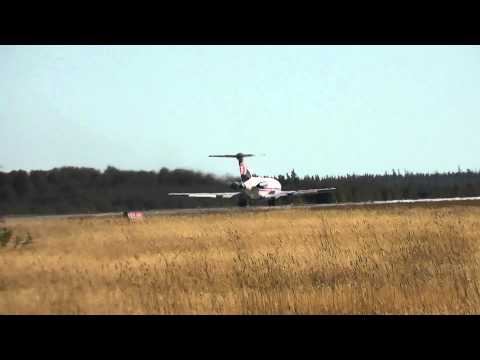 Cargojet C-GCJZ | Boeing 727-200 take off RWY18 | Val-d'Or (CYVO)