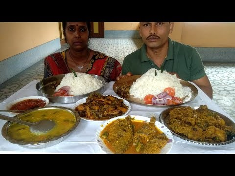 All Demands Fulfil Today - I Am Enjoying Lunch With My Wife - Indian Food Eating Show