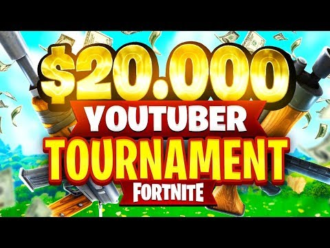 20 000 youtuber streamer fortnite tournament week 7 - 20000 fortnite tournament bracket