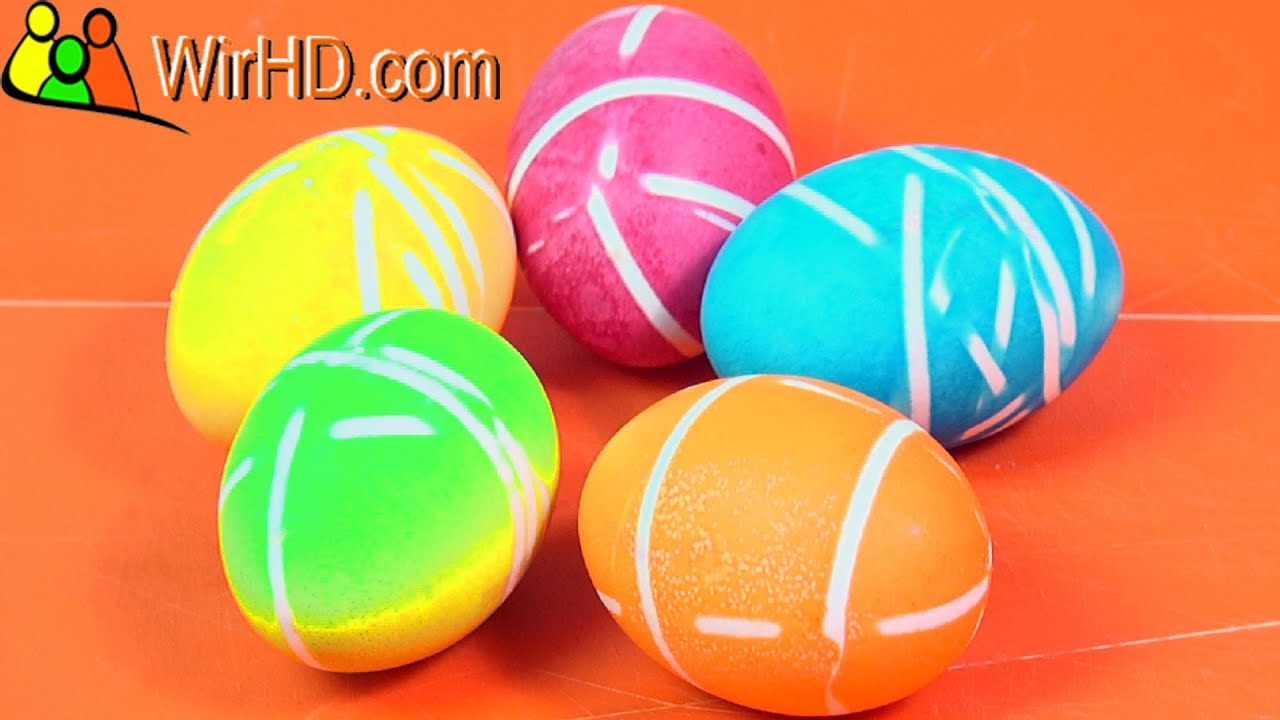 rubber band easter eggs coloring easter eggs colorful easter egg