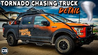 Detailing The Tornado Hunters Storm Chasing Truck! | Satisfying Car Detailing of a Dirty Work Truck