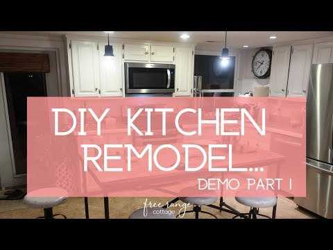 DIY Kitchen Remodel on a Budget/ Removing Cabinets and Keeping My Sanity!