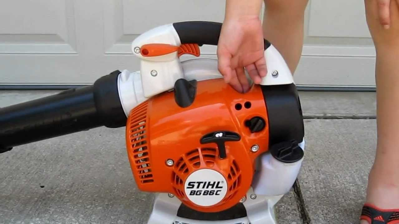 stihl blowers bg 86 ce starting process youtube. Black Bedroom Furniture Sets. Home Design Ideas