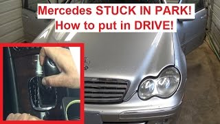 Video Mercedes W203 STUCK IN PARK. How to put in Drive  c180 c200 c230 c240 C270 C320 C350 download MP3, 3GP, MP4, WEBM, AVI, FLV September 2018