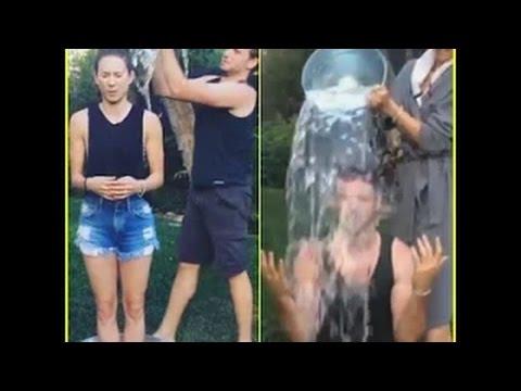 Troian Bellisario & Boyfriend Patrick J Adams Complete the ALS IcE Bucket Challenge Together