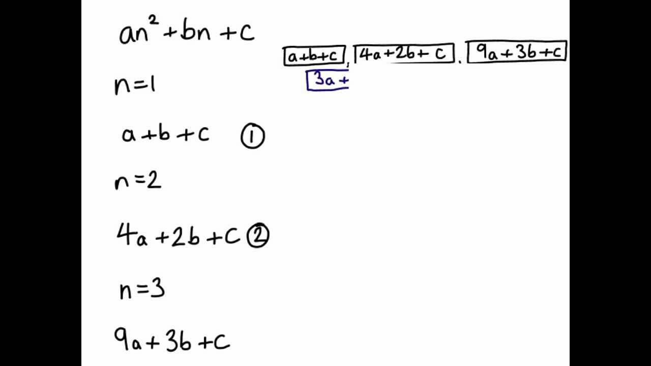 Quadratic sequences from the start - YouTube