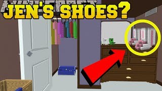vuclip Minecraft: DO YOU SEE JEN'S SHOES?!? - Crack The Brain - Custom Map [1]