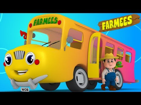 The Wheels On The Bus Go Round And Round | English Rhymes Playlist by Farmees