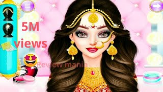 Doll Amma to marry Andi. Makeup  doll game for kids. INDIAN WEDDING MAKEUP GAME FOR KID
