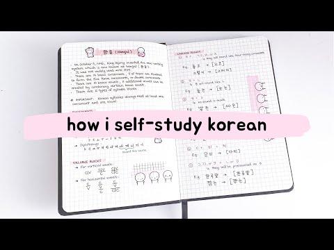 how i self-study korean + tips for beginners