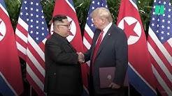 La rencontre entre Donald Trump et Kim Jong Un à Singapour résumée en 3 minutes