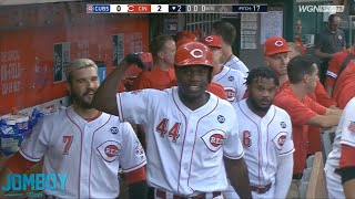 Reds Rookie, Aristides Aquino hits 3 home runs in a row, a breakdown
