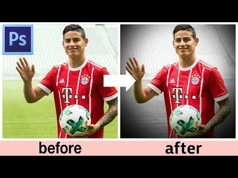 photoshop tutorial 2017 | how to make a football edit 2017-2018 (james rodriguez)