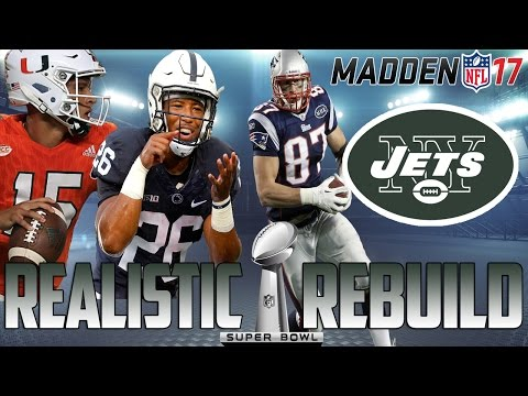 Madden 17 Connected Franchise | Realistic Rebuild: New York Jets | Saquon Barkley + Kaaya = SB?