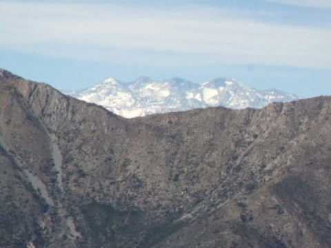 The Andes from La Campana National Park, Chile.