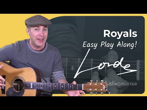 EASY GUITAR: How to play Royals by Lorde - Guitar Lesson Tutorial
