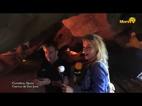Miami TV - Jenny Scordamaglia - Las Cuevas de San Jose Underground River - Spain