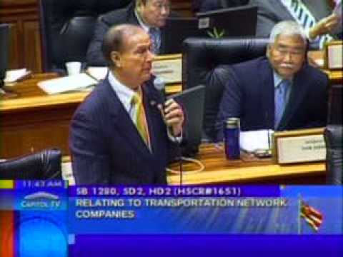 Reps. Fukumoto Chang and Ward address SB  1280 Transportation Network Companies