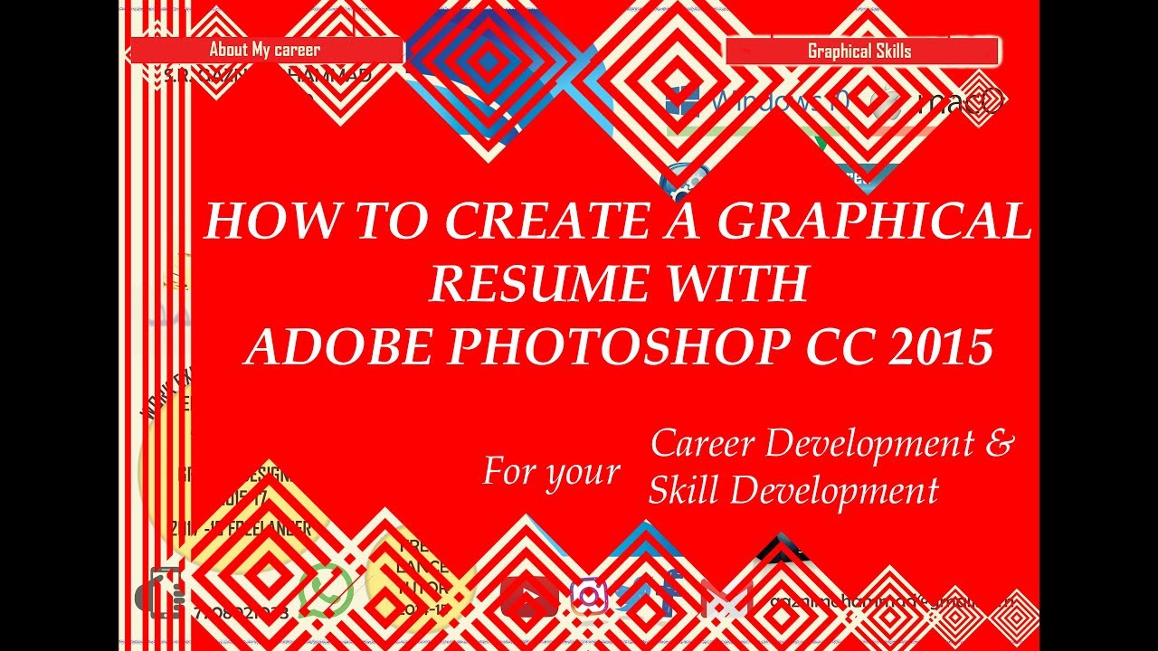 How to create a graphical resume with adobe photoshop CC 2015 - YouTube