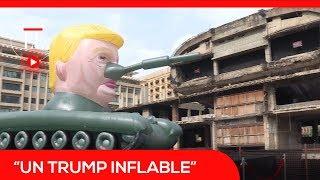 Un tanque de guerra con la cara de Trump recorre las calles de Beirut | El Espectador