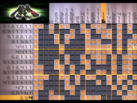 Pokemon picross solutions 04 images pokemon images for Pokemon picross mural 1