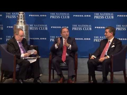 NHL Commissioner Gary Bettman & Capitals Owner Ted Leonsis discuss the 2015 Winter Classic