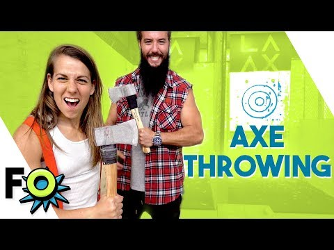 Axe Throwing! FITNESS OUTRAGEOUS