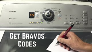 How To Get Codes Maytag Bravos Washer