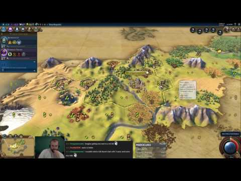 Civilization 6 Multiplayer 2: Arabia [1/2] ( 6 Player Free For All) Gameplay/Commentary