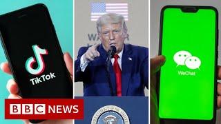 TikTok threatens legal action against Trump US ban - BBC News