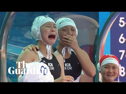 Tears of joy as South Korea's water polo team score – but concede 94