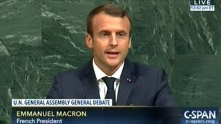 Where Ever The Role Of Women Is Undermined Development Is Undermined Too!  President Macron At U N
