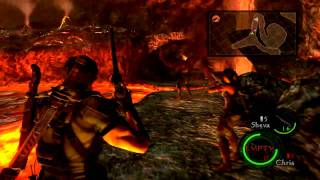 Resident Evil 5 Coop - Wesker Final Boss - Fails and Win! (Commentary)