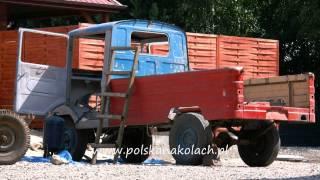 Piaskowanie nadwozia i podwozia samochodu Żuk A03