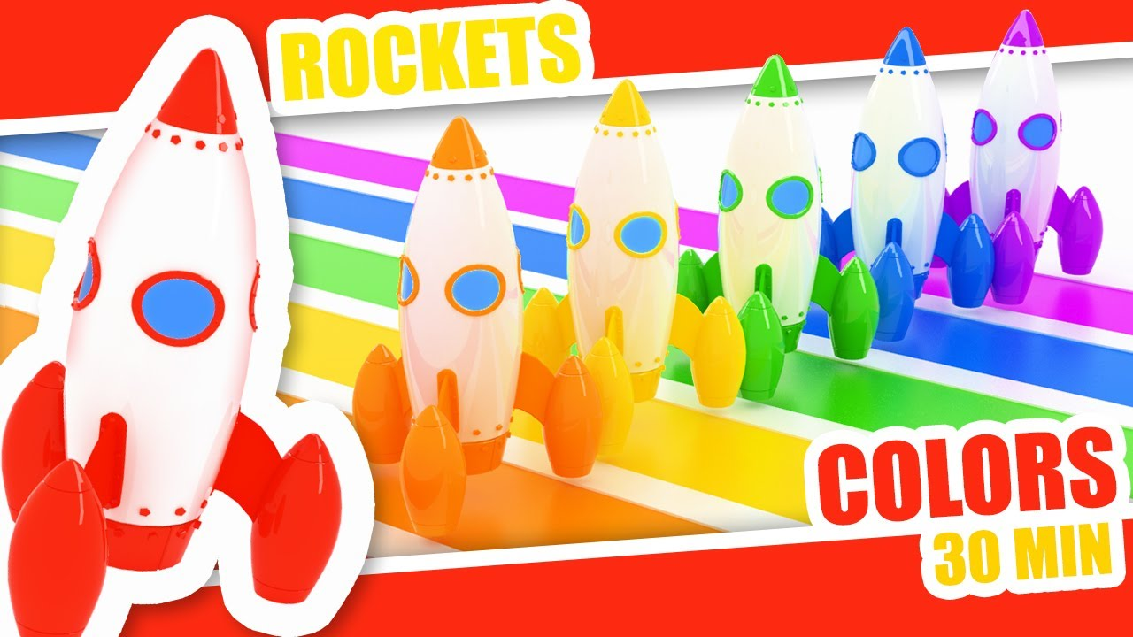 Learn Colors with Rockets - Educational Videos for Toddlers - Preschool Learning