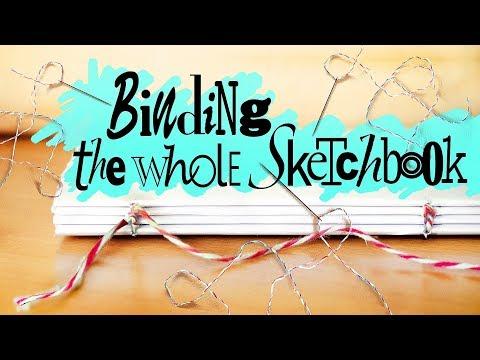 DIY JOURNAL BINDING / Handmade sketchbook Tutorial