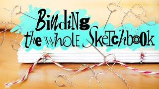 Скачать DIY JOURNAL BINDING Handmade Sketchbook Tutorial