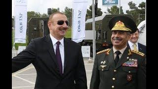 İlham Əliyev Silah sərgisinin açılışında