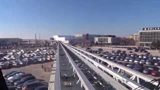 Pearson Airport People Mover Ride from Viscount Station to Terminal 1 and UPX Rail Station