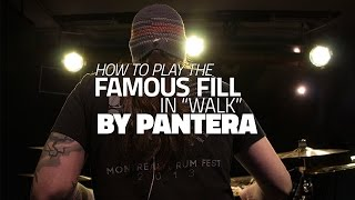 "How To Play The Famous Fill In ""Walk"" By Pantera - Drum Lesson (DRUMEO)"