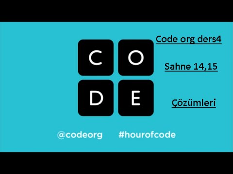 Code org Ders4 Sahne 14 ve 15 çözümleri