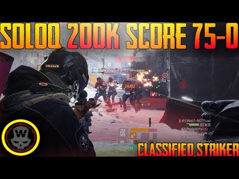 200.000 SCORE 75KILLS 0DEATHS SOLO Last Stand gameplay (The Division 1.8)