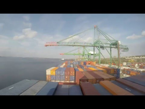 Timelapse - Entering Port of Halifax & Cargo Operations [4K]
