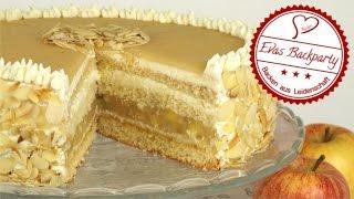 Apfel - Marzipan - Torte / Apfeltorte mit Marzipan / Marzipantorte / Backen mit Evas Backparty