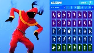CLOAKED SHADOW SKIN SHOWCASE WITH ALL FORTNITE DANCES & EMOTES