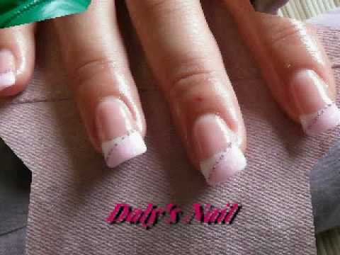 Nails Art French Bianco