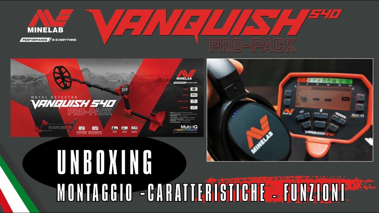 VANQUISH 540 PRO-PACK Unboxing Montaggio Funzioni