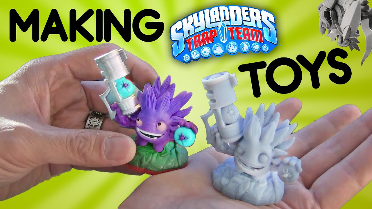 Making Skylanders Trap Team Toys Timelapse 3D Printing Quick Overview