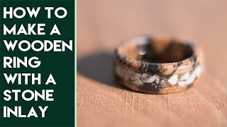 How to Make a Ring with a Stone Inlay | Black and White Ebony and Emerald