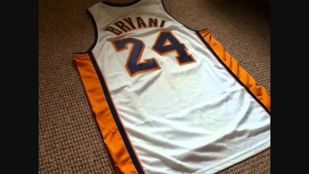 a249ef2a63b6 LA Lakers Kobe Bryant Swingman Jersey - YouTube